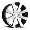 6 LUG 8-BALL - S214 BRUSHED / GLOSS BLACK