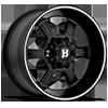 6 LUG 845 FLAT BLACK MACHINED STRIPE