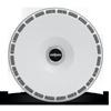 5 LUG AERODISC GLOSS WHITE W/ SILVER HEX