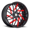 5 LUG AF832 BLACK AND RED