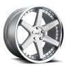 5 LUG ALTAIR - M193 BRUSHED SILVER W/ CHROME LIP