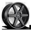 5 LUG ALTAIR - M192 20X9 | SATIN BLACK/GLOSS BLACK
