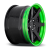5 LUG ALTAIR GLOSS BLACK W/ LOLLIPOP LIME