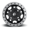 4 LUG ANZA - D917 BEADLOCK 14X7 ET38   MATTE BLACK W/ ANTHRACITE RING