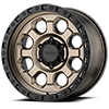 6 LUG AR201 MATTE BRONZE WITH BLACK RING