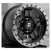 8 LUG ANZA - D557 MATTE BLACK W/ ANTHRACITE RING