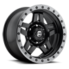 6 LUG ANZA - D557 MATTE BLACK W/ ANTHRACITE RING