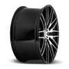5 LUG ANZIO - M165 GLOSS BLACK WITH BRUSHED FACE