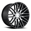 5 LUG ANZIO - M165 GLOSS BLACK & BRUSHED 20X10.5