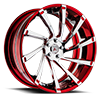 5 LUG OTL876 RED WITH CHROME FACE