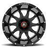 6 LUG AB810 BALLISTIC GLOSS BLACK MILLED