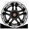 6 LUG AB809 ENFORCER GLOSS BLACK MILLED