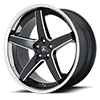 5 LUG ABL-31 GLOSS BLACK MILLED