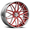 5 LUG OTL896 POLISHED W/ RED ACCENTS