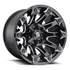 6 LUG BATTLE AXE - D578 GLOSS BLACK & MILLED