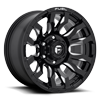 6 LUG BLITZ - D673 GLOSS BLACK & MILLED