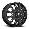 8 LUG BLITZ DUALLY FRONT - D673 GLOSS BLACK & MILLED