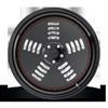 5 LUG BM1 MATTE BLACK W/ GLOSS BLACK LIP
