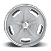 5 LUG BONNEVILLE - U309 TEXTURED ULTRA SILVER / POLISHED LIP