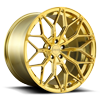 5 LUG BTC CANDY GOLD W/ BRUSHED FACE POLISHED WINDOWS
