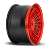 5 LUG BUC HI LUSTER CANDY RED W/ BRUSHED CANDY RED LIP