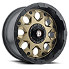6 LUG 968 SHIELD FLAT BRONZE FACE W/ FLAT BLACK LIP