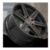 5 LUG CARINA - M236 22X9.5   GLOSS BLACK & MACHINED W/ DARK TINT