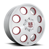 8 LUG CHAMP DUALLY FRONT - FORGED HD BRUSHED CLEAR W/ RUBY RED ACCENTS