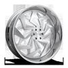 6 LUG CHOP - X122 30X10 | BRUSHED GLOSS CLEAR W/ CHROME LIP