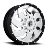 8 LUG CLEAVER DUALLY FRONT - D240 CHROME W/ BLACK LIP