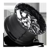 5 LUG CLEAVER - D240 CHROME CENTER AND GLOSS BLACK OUTER