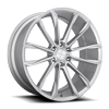 6 LUG CLOUT - S248 SILVER W/ BRUSHED FACE