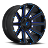8 LUG CONTRA - D644 GLOSS BLACK W/ CANDY BLUE