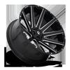 8 LUG CONTRA - D615 26X12 | GLOSS BLACK & MILLED