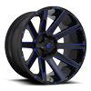 8 LUG CONTRA - D644 24X14 | GLOSS BLACK W/ CANDY BLUE
