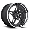 5 LUG CRUISE - F439 GLOSS BLACK W/ CHROME LIP