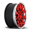 5 LUG CVT BRUSHED CANDY RED GLOSS