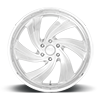 6 LUG CYCLONE 6 - PRECISION SERIES BRUSHED GLOSS CLEAR W/ POLISHED DETAILS