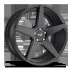 5 LUG CARINI - M185 SATIN BLACK - 20X10