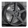 5 LUG CARINI - M185 SATIN BLACK - 20X9