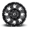 8 LUG CLEAVER DUALLY FRONT - D574 BLACK & MILLED