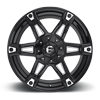 6 LUG DAKAR - D622 GLOSS BLACK & MILLED