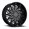 5 LUG DAZR - S231 GLOSS BLACK & MILLED
