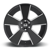 5 LUG DEL GRANDE - S230 GLOSS BLACK & MILLED
