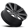 5 LUG 8-BALL - S187 BLACK & MILLED