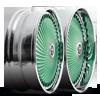 5 LUG DIRAGIO - S713 GREEN W/ CHROME ACCENTS