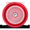 8 LUG FF01 SOFT CANDY RED & MILLED