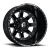 8 LUG FF09D - 8 LUG REAR GLOSS BLACK MILLED