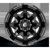 8 LUG FF09D - 8 LUG REAR GLOSS BLACK