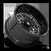 6 LUG FF104 GLOSS BLACK MILLED